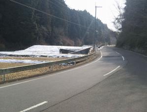 道中の残雪