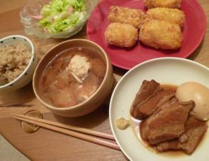 豚の角煮メニュー