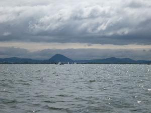 琵琶湖、湖上