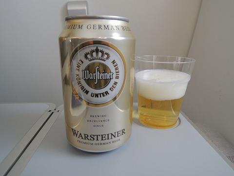 機内のビール