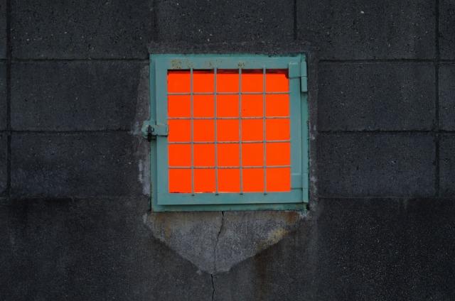 オレンジの窓