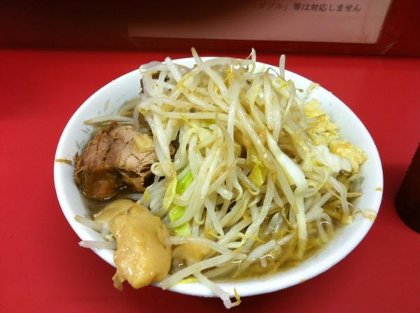 ラーメン二郎 小岩店 小ラーメン ニンニクアブラカラメ