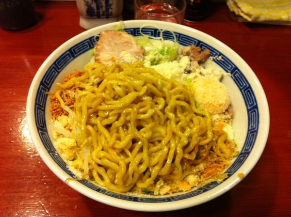 麺屋 十郎兵衛 ジャンクカレーチッ(大盛り) 麺