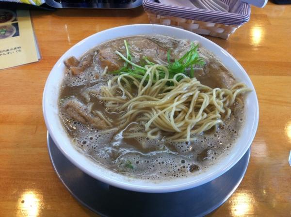 麺饗 松韻 中華そば(こってり)+チャーシュー 麺