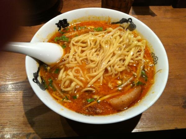 カラシビ味噌らー麺 鬼金棒 カラシビ味噌らー麺(カラ少なめシビ少なめ) 麺