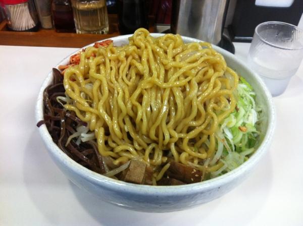 らーめん丈屋 美郷店 油じろう(大盛り)+ニンニク+キムチ 麺