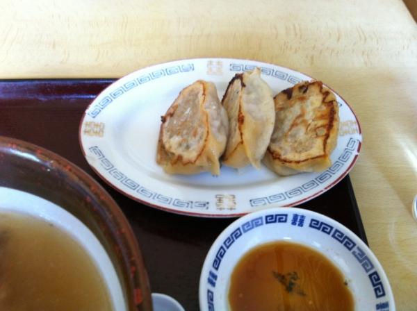 久米食堂 中華そばギョーザセット ギョーザ