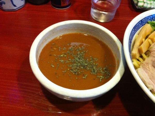 麺屋十郎兵衛 バジル香るイタリアントマトカレーつけ麺 つけだれ
