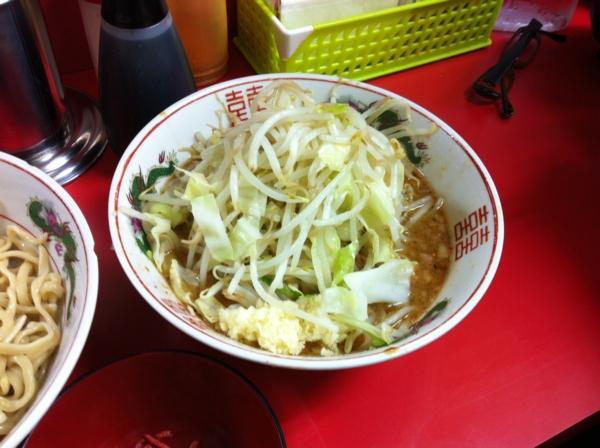 ラーメン二郎仙台店(宮城県仙台市) つけ麺(小)+ニンニク つけ汁