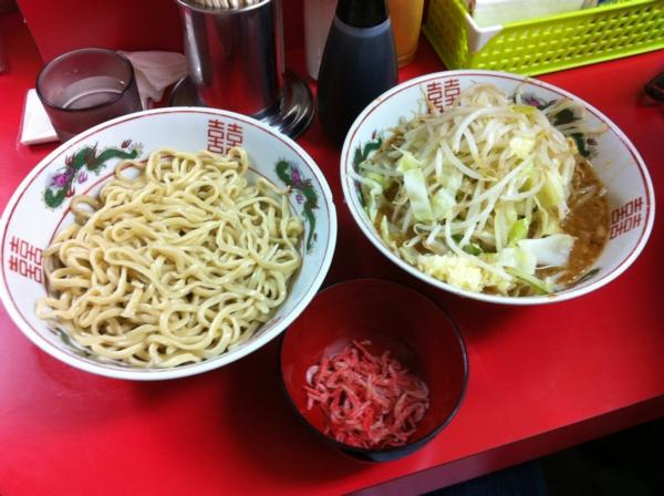 ラーメン二郎仙台店(宮城県仙台市) つけ麺(小)+ニンニク