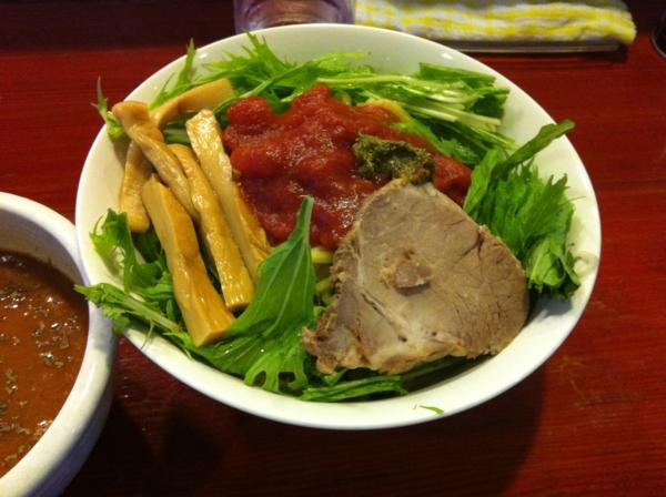麺屋十郎兵衛 バジル香るイタリアントマトカレーつけ麺 二杯目 麺