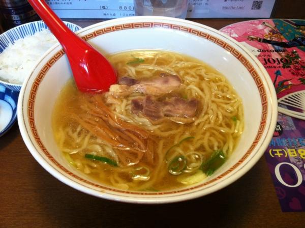 中華そば嘉一 ランチセットB(中華そば+ご飯+鶏皮)