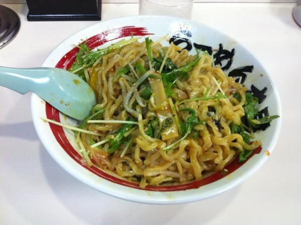 らーめん丈屋美郷店 野菜たっぷり冷し油そば(二杯目) 麺
