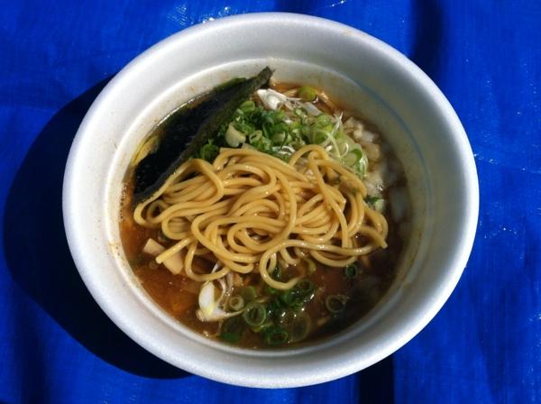 Akita大ラーメン博 BASSOドリルマン 濃厚中華そば 麺
