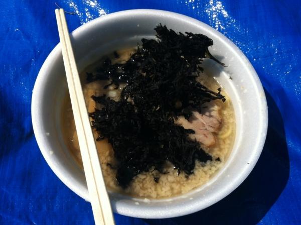 AKITA大ラーメン博  ラーメン潤 背脂煮干し中華そば 岩海苔トッピング