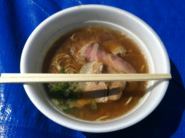 AKITA大ラーメン博 せたが屋 煮干し醤油三つ巴焼豚麺