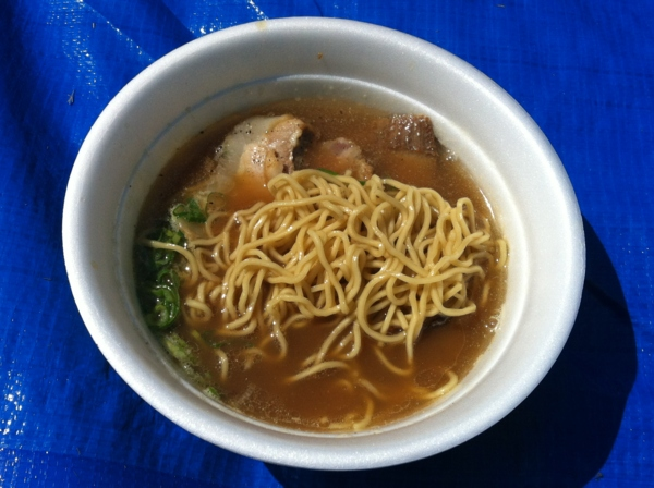 AKITA大ラーメン博 せたが屋 煮干し醤油三つ巴焼豚麺 麺