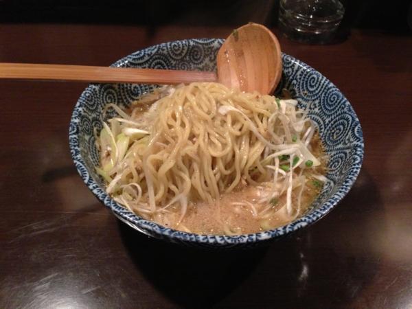 麺屋345丁目 ネギ味噌らぁめん 麺
