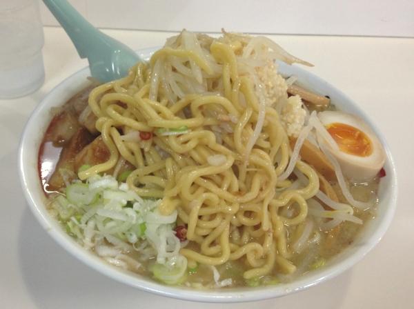 らーめん丈屋美郷店 豚骨味噌JIRO 麺