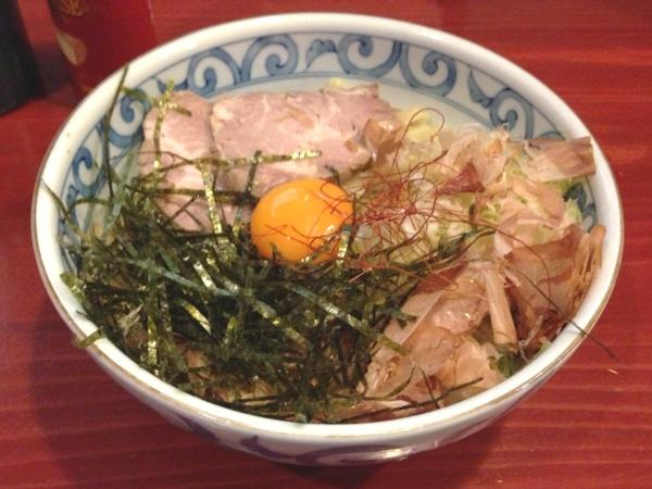 麺屋十郎兵衛 釜玉中華麺(二杯目)