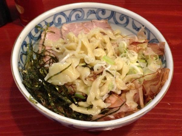 麺屋十郎兵衛 釜玉中華麺(二杯目) 麺