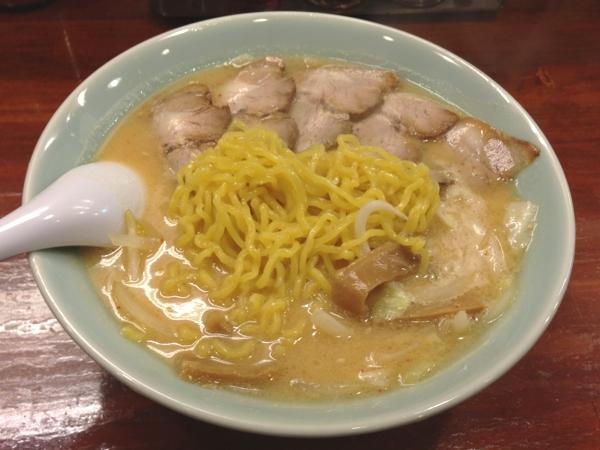 北海道らーめん おやじ本荘店 おやじ麺 チャーシュートッピング 麺