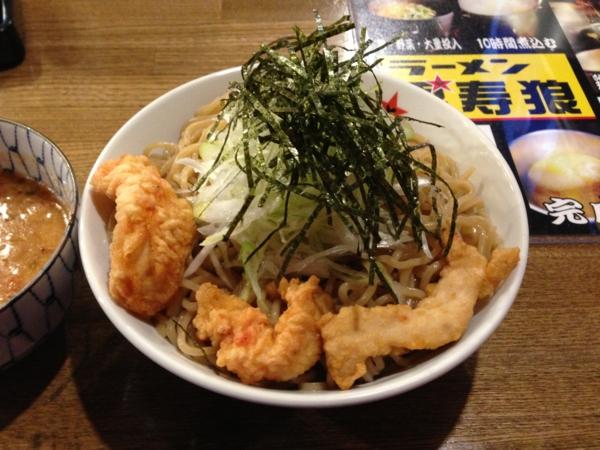 ラーメン男寿狼 鶏骨海老つけ麺(大盛り) 麺