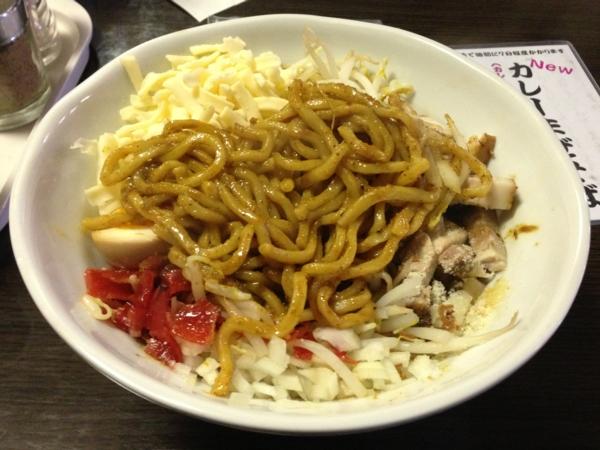 つけ麺KOTETSU カレーまぜそば(一辛) 麺