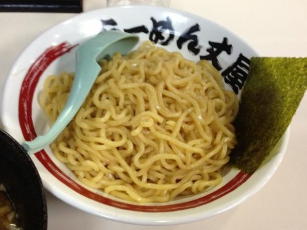 らーめん丈屋美郷店 魚介とんこつつけ麺(大盛り) 麺