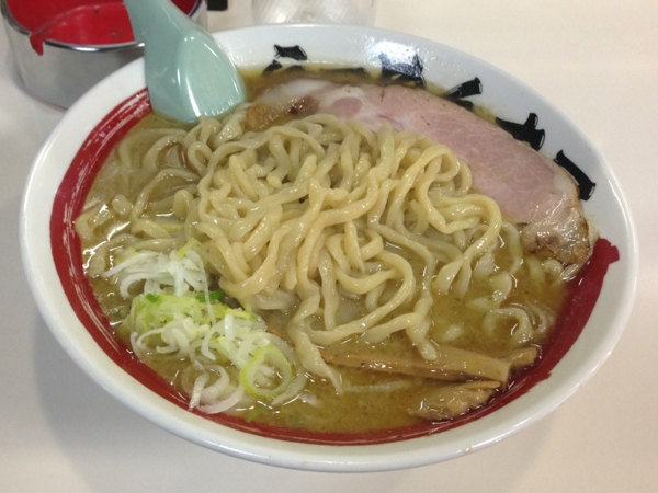 らーめん丈屋美郷店 極太超煮干 麺