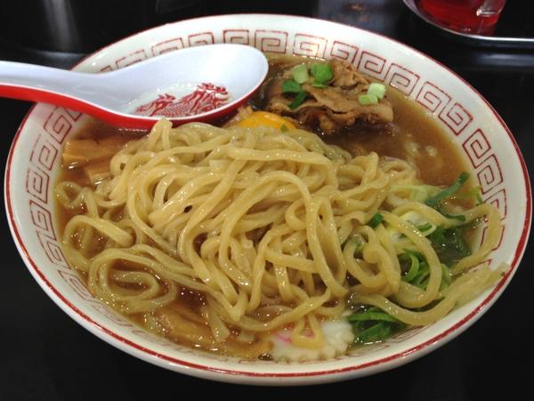 ぶたさぶろう 肉玉そば(太麺 ライス付き) 麺