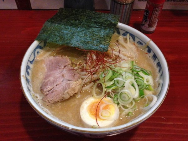 麺屋十郎兵衛 じゅろ味噌ラーメン(麺をつけ麺用でオーダー)