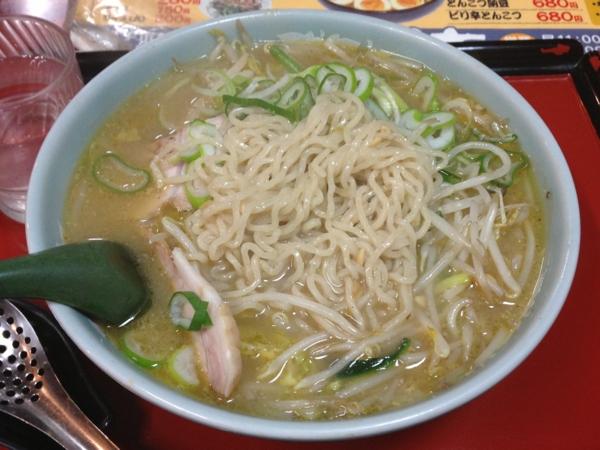 麺屋秀吉 納豆みそラーメン 麺