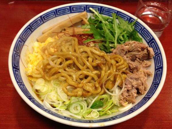 麺屋十郎兵衛 ジュロドゥー油そば(二杯目) 麺