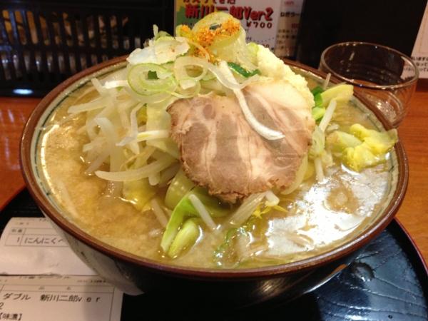 新川栄太郎 かえってきた新川二郎Ver2ダブル、にんにくペーストまし、油まし、味濃