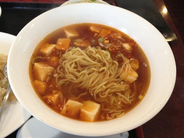 慶味齋 麻婆ラーメン 麺