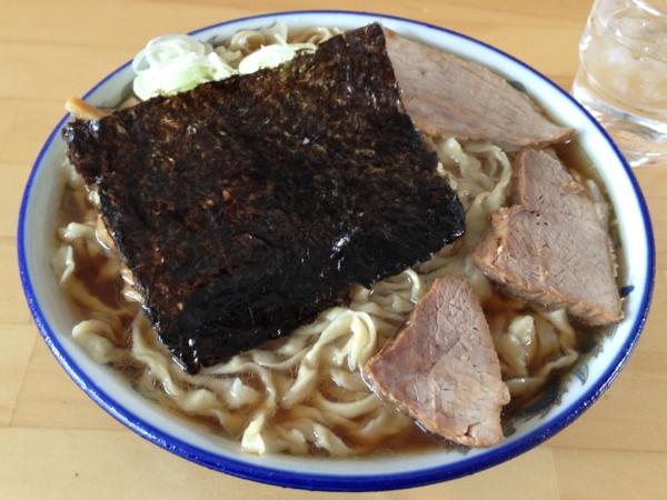 ケンちゃんラーメン秋田店 中華そば小盛、こい口、麺硬め