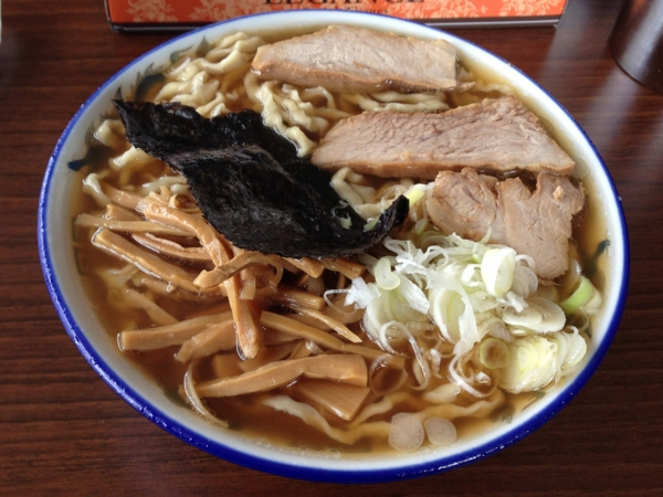 ケンちゃんラーメン秋田店 中華そば小盛り 油ぬき 麺柔らかめ