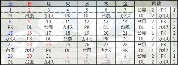 12月遠隔カレンダー