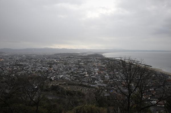 奉納山公園から、大社町