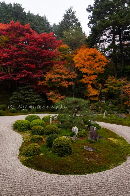 2012年 京都・曼殊院門跡の庭園の紅葉2