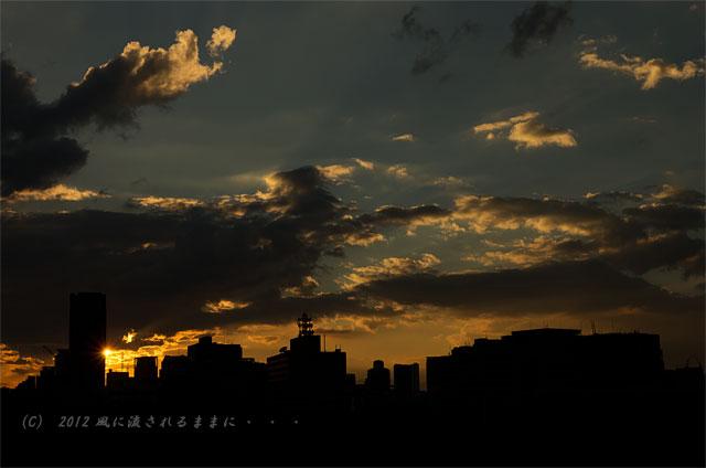 夕日が沈む大阪の街1