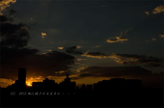 夕日が沈む大阪の街2