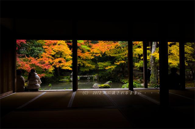 2012年 京都・蓮華寺 紅葉3