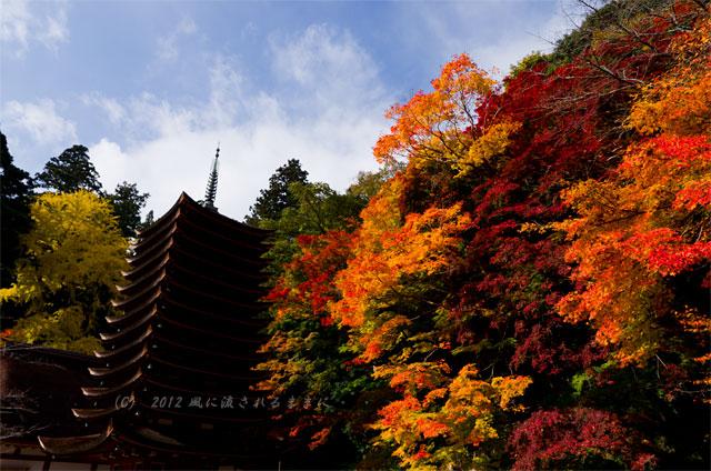 2012年談山神社の紅葉 13重塔1