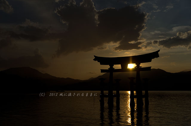 広島・厳島神社の夕日9