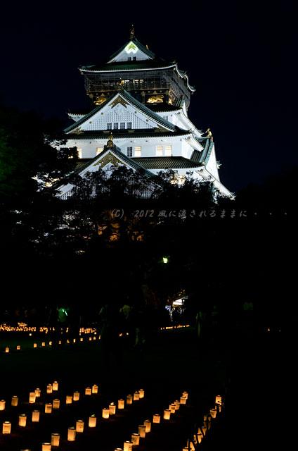 大阪城 城灯りの景1