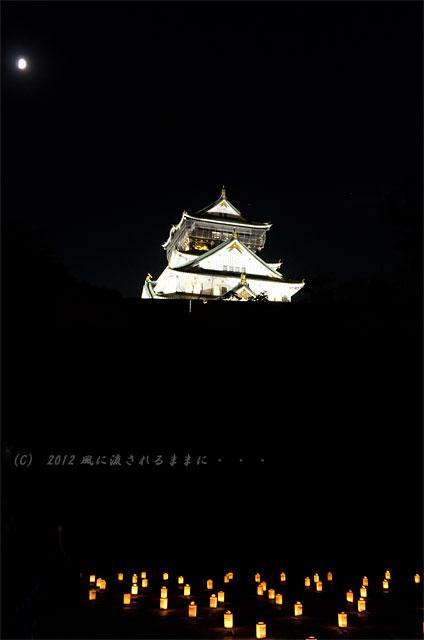 大阪城 城灯りの景5