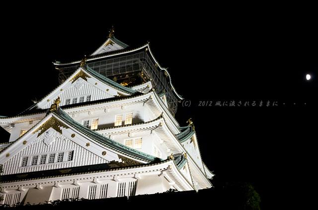 大阪城 城灯りの景6