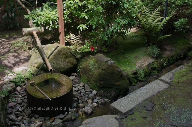 京都・龍安寺 知足の蹲踞(つくばい)2